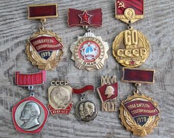 915e912de1b37 collectible pins vintage pins   set of 8 Soviet Pins   pinback button ...  badges ... Soviet propaganda ... Soviet paraphernalia ... USSR
