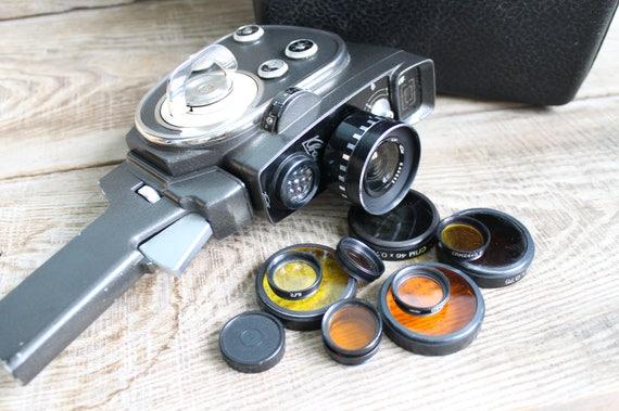 Collectible Camera Genuine Camera Zenit Quarz 2x8S 1M  Old Vintage Soviet  film Movie Vintage Soviet Film Camera Working Cine Camera