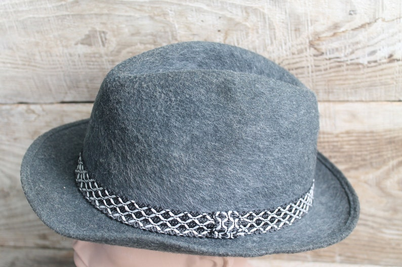 7727c3cf5 Old Vintage Hat Fedora Wool Felt Fedora Hunter hat Velour Hat Trilby Fedora  hats Men's hat Vintage 60's
