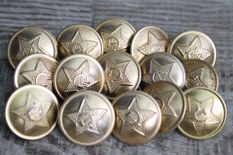 15 pcs  military buttons (0 85