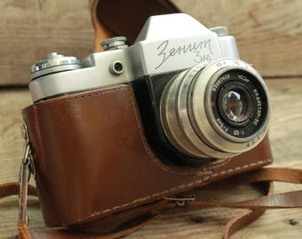 rare camera / collectible camera / Old Vintage Soviet  Camera Zenit - C with lens  Industar - 50 / retro camera / СССР / Зенит