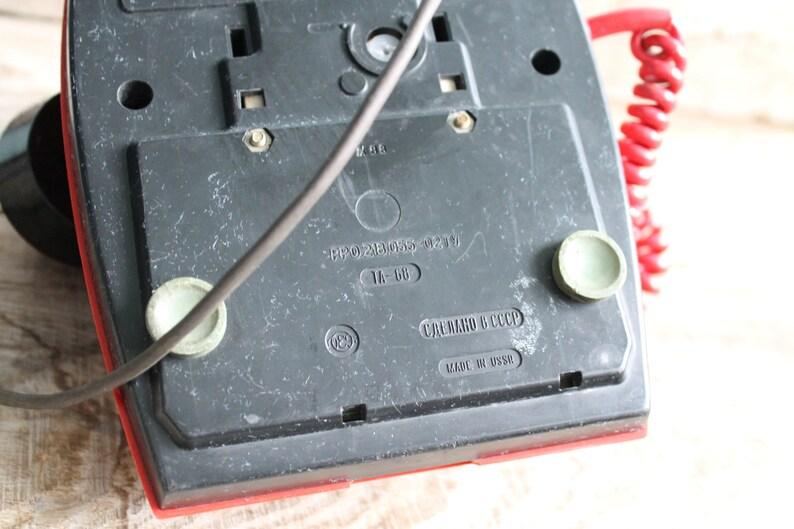 Vintage Soviet  rotary phone  TA-68   Interior Design Made in USSR Vintage Factory Intercom  vintage landline phone  Old Dial Desk Phone