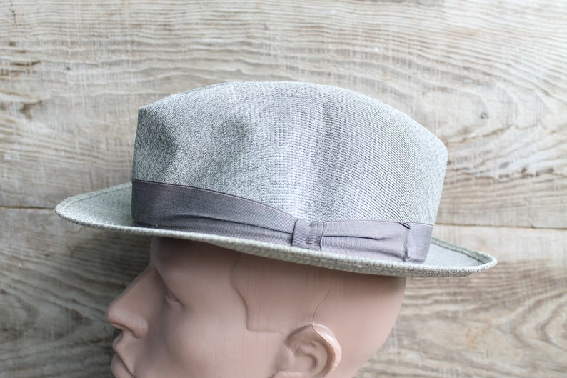 3c0aea286 Old Vintage Hat Fedora Hunter hat Velour Hat Trilby Fedora hats Men's hat  Vintage 60's
