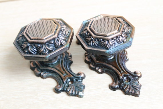 Vintage Retro 2 Door Knobs Door Knob Rustic Metal Door Knobs | Etsy