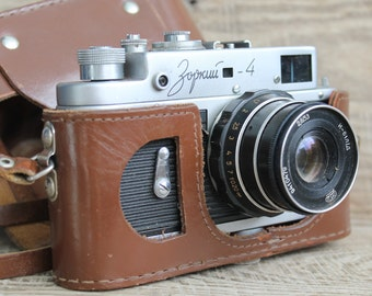 vintage camera Soviet camera Zorki-4 retro camera / old rare vintage collectible camera / lens Industar - 61 L/D  camera 35 mm photo camera