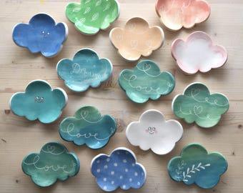 Piattino nuvoletta in ceramica,nuvola