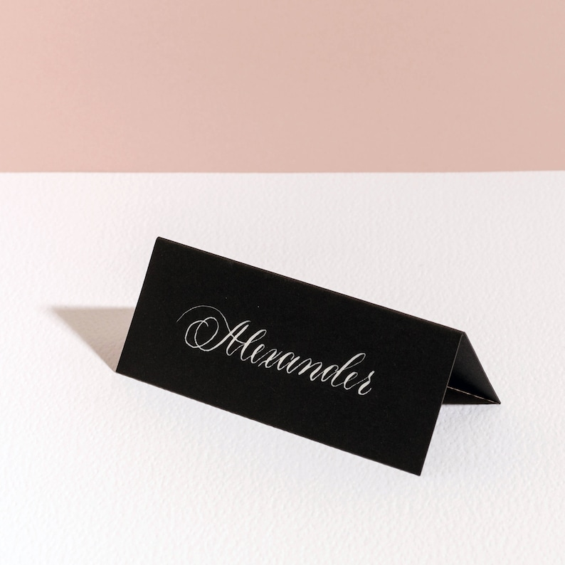 Classic Calligraphy Place Card First Name