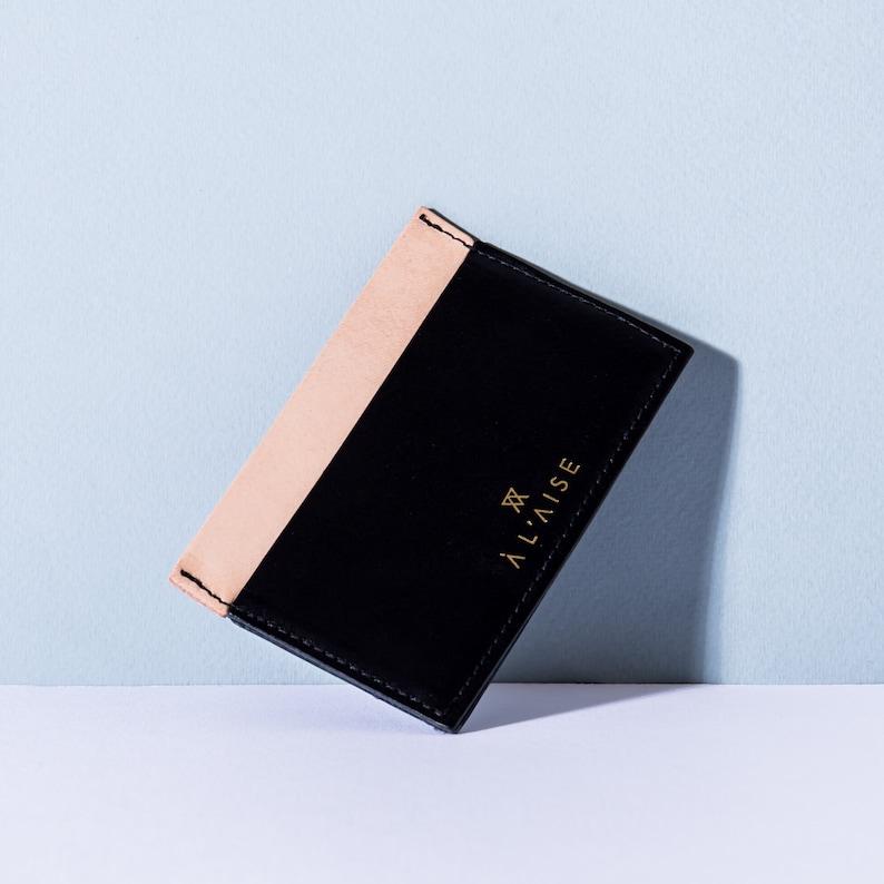Black  Natural Multi Card Case
