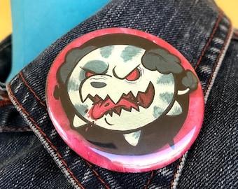 "2"" Button: JennifiedArt Watermelon Dog"