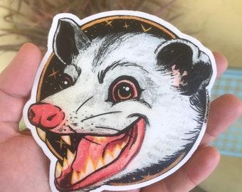 Trash Kitten Sticker by Jennified Art