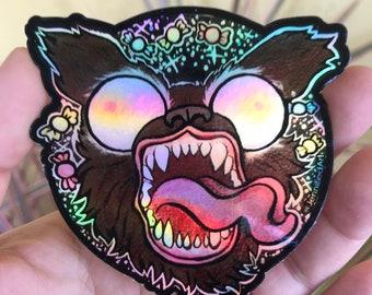 Beast Dog Rainbow Sticker