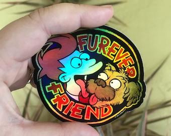 Furever Friend Rainbow Sticker