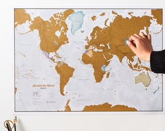 Scratch the World ® - scratch off map poster - gift for him, gift for her, travel gift, gift, wall hanging, home decor