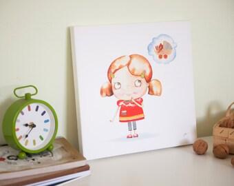 Little girl room art, Art for girls room, Decor for girls room, Kids wall art, Childrens art
