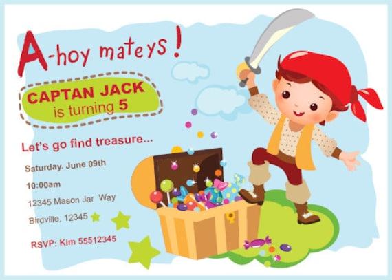 Invitan A Fiesta Pirata Muchacho De Invitación De Cumpleaños Partido Pirata Invitación De Cumpleaños Para Imprimir Decoración Pirata Pirata