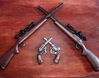 Miniature 1:12 Dollhouse Gun, Rifle, Shotgun, Pistol, Revolver