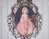 Miniature 1 12 Dollhouse Painting - Franz Xaver Winterhalter - Princess Alice in 18th-Century Costume