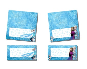 picture regarding Free Frozen Printable Food Labels known as Olaf foodstuff labels Etsy