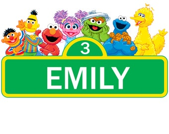 image regarding Printable Sesame Street Sign identify Sesame highway labels Etsy