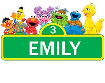 image regarding Printable Sesame Street Sign identify Sesame highway labels Etsy
