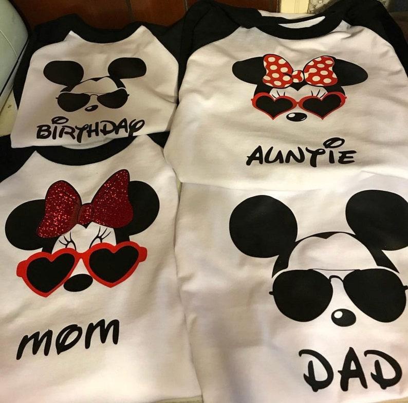 Mickey And Minnie Birthday Shirts Custom T Disneyland For Famil