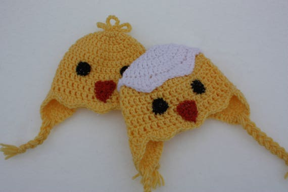 Crochet Pattern Hatching Chick Hat Etsy