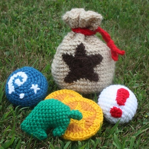 Animal Crossing Bell Bag PATTERN~Crochet~Amigurumi Coin Pouch~Dice Bag~Gamer Bag~Bag for Treasures and Knick-Knacks~Pouch for Pirate Costume
