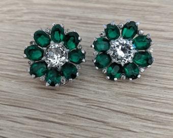 49187a9ca Beautiful Joseph Mazer Green Clip On Earrings Faux Emerald