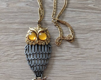 Articulated Boho Owl Necklace