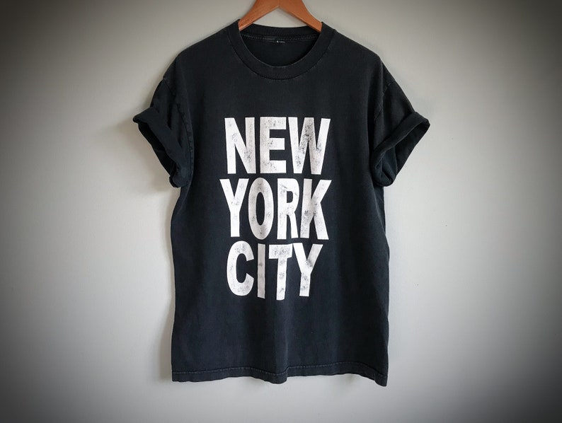 bf7779bc0a6 New York City T-Shirt Graphic Tee Black and White Print | Etsy