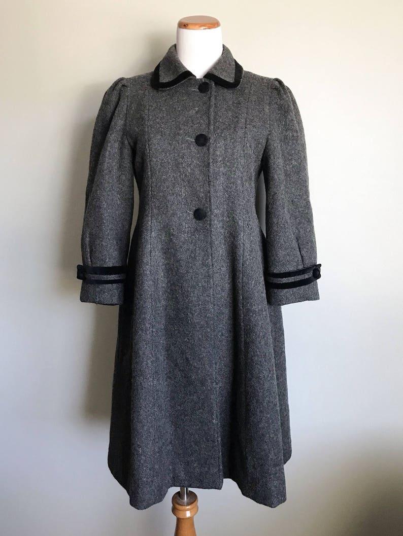 f05db22c54f8 Vintage Rothschild Grey Black Wool Coat Girl s Dress Coat