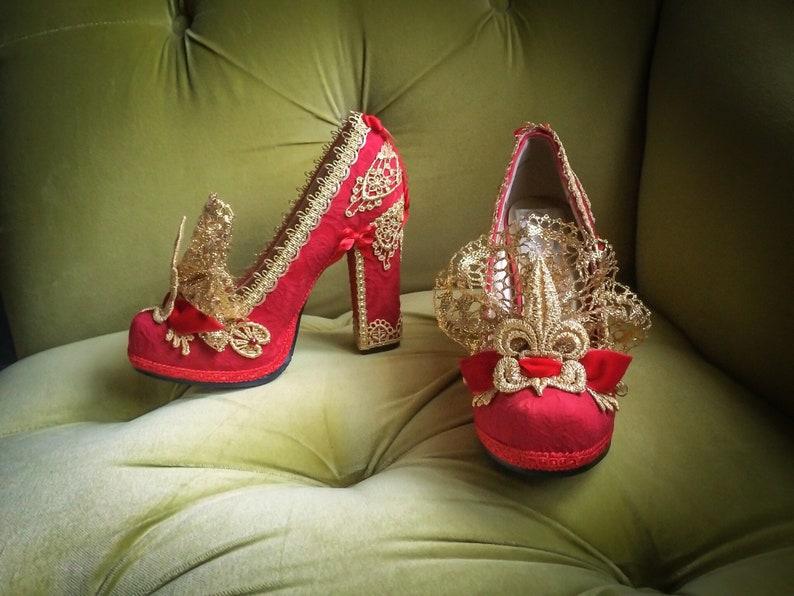 fd1ec205d7 SALE Red Queen Alice in Wonderland Inspired Shoes Platform | Etsy
