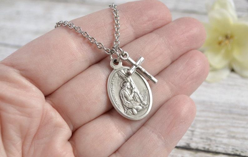 Saint St Mary Magdalene Necklace/Catholic Jewelry/Catholic Necklace/Saint  of Women/Saint of Hairdressers/Patron Saint/Catholic Saint
