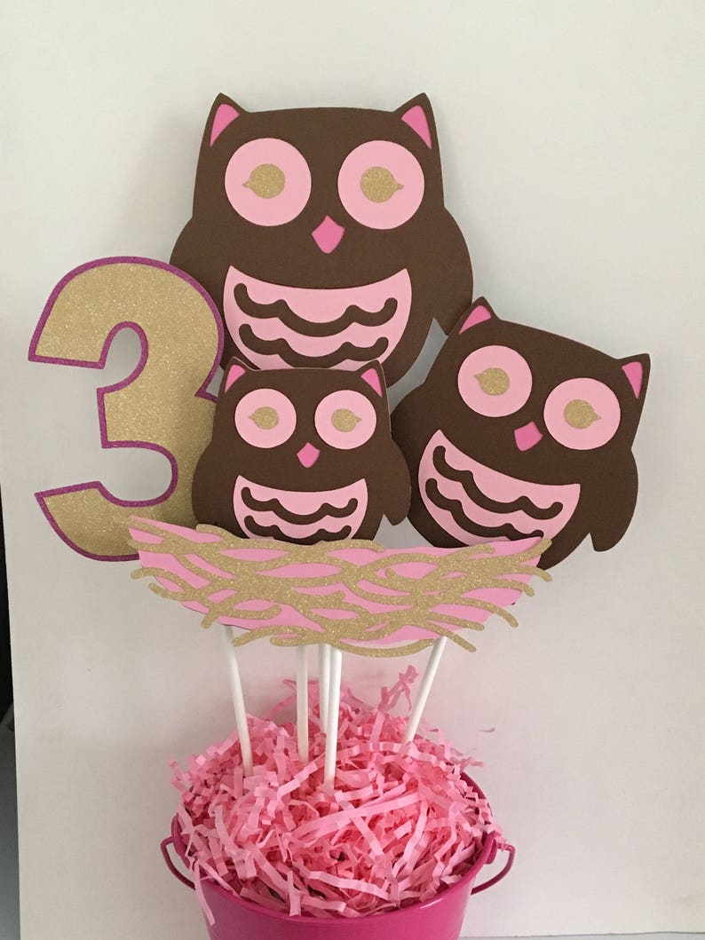 Groovy Owl Birthday Centerpiece Owl Themed Birthday Owl Party Etsy Birthday Cards Printable Nowaargucafe Filternl