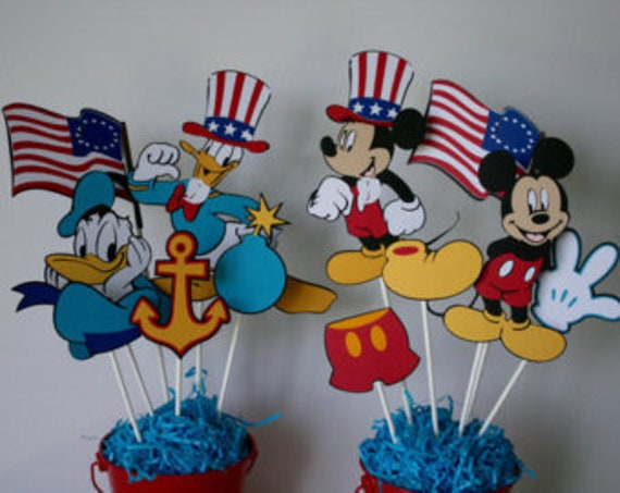 Mickey And Friends Fourth Of July Party 4th Birthday Decorations Mouse