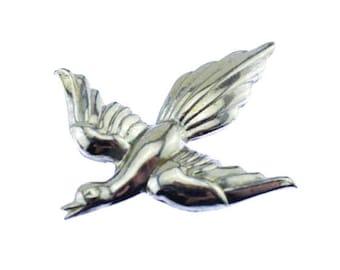 Large Silver Bird Brooch, Silver Bird Pin, Silver Dove Brooch, Silver Dove Pin