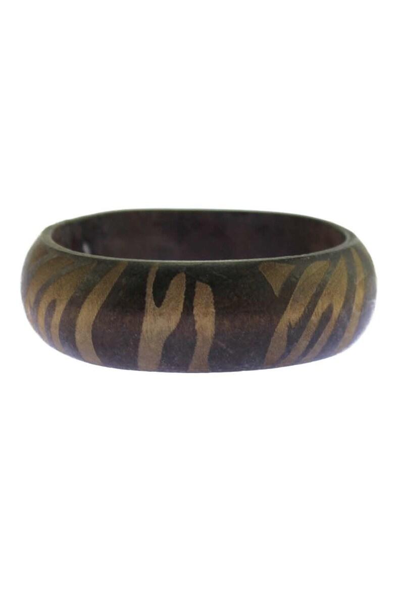 7d5f4a6721a Vintage Chunky Wood Bangle Bracelet Wooden Bangle Bracelet   Etsy
