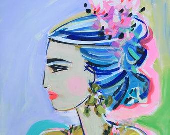 Frida Print, Modern, 8 x 10, 11x14, 16x20, 24 x 30, 30 x 40