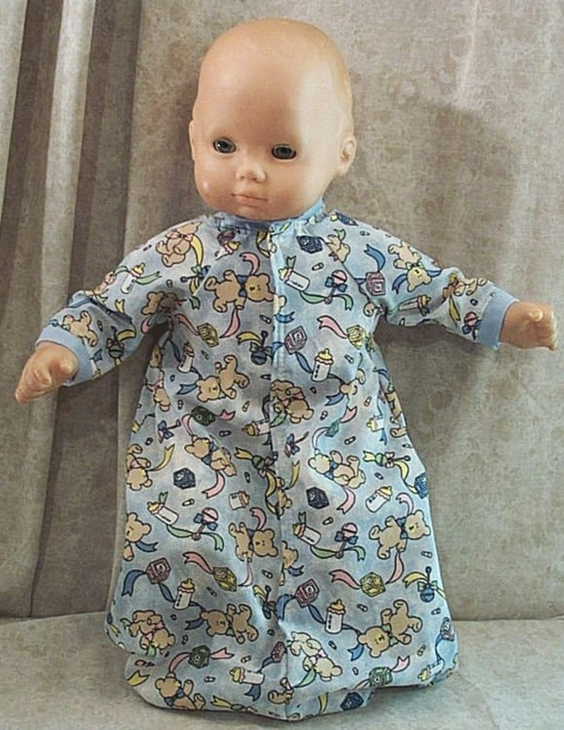 """Doll Clothes Baby Made 2 Fit American Girl 15/"""" inch Bitty Sleeper Moon Star Boy"""