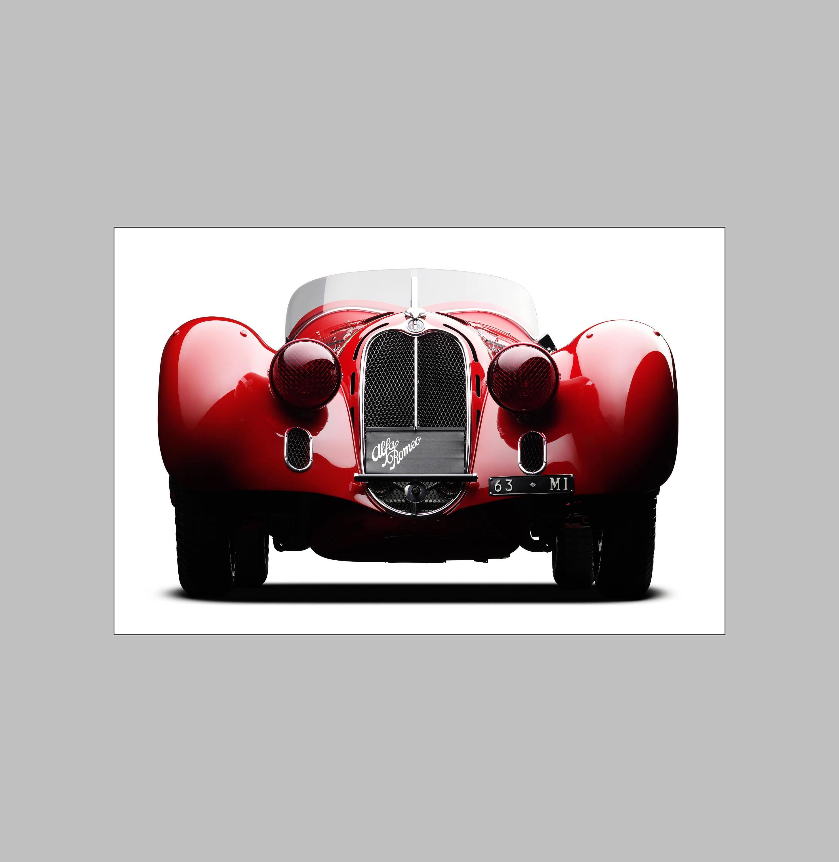 Alfa Romeo 1938 Mille Miglia Spider 8C 2900 Vintage Poster