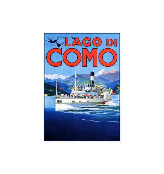 39e047f916b Lake Como Italy 1920 Lago Di Como Vintage Poster Print