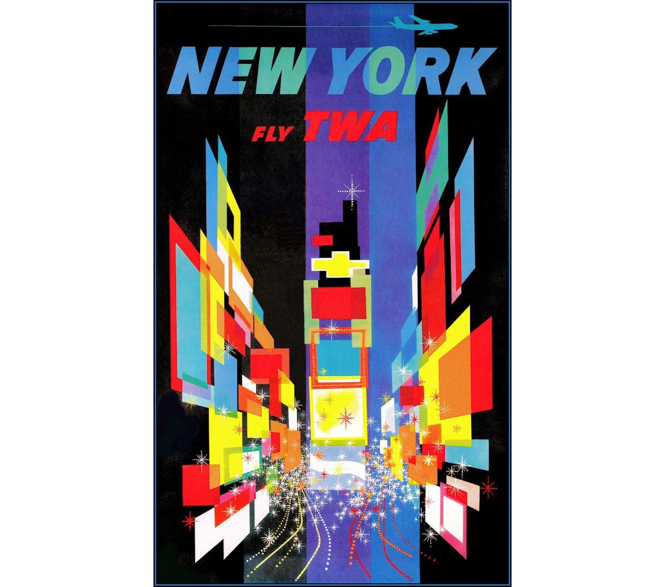 "FLORIDA TWA Airline 8.5/"" X 11/""  Travel Poster"
