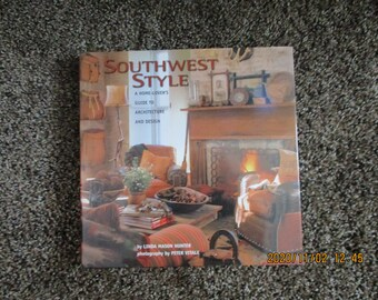 Southwest Style Home Decor Book, Glossy Color Photos of Home Interiors and Exteriors, Accents, Furnishings, Architecture 198 Pages Mint Cond