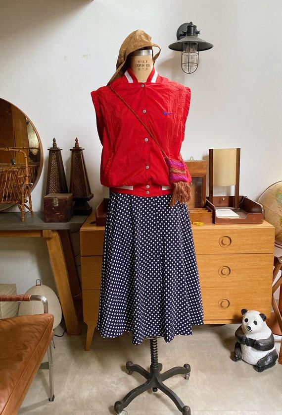Vintage 70s NIKE Vest Wind Breaker Red Jacket