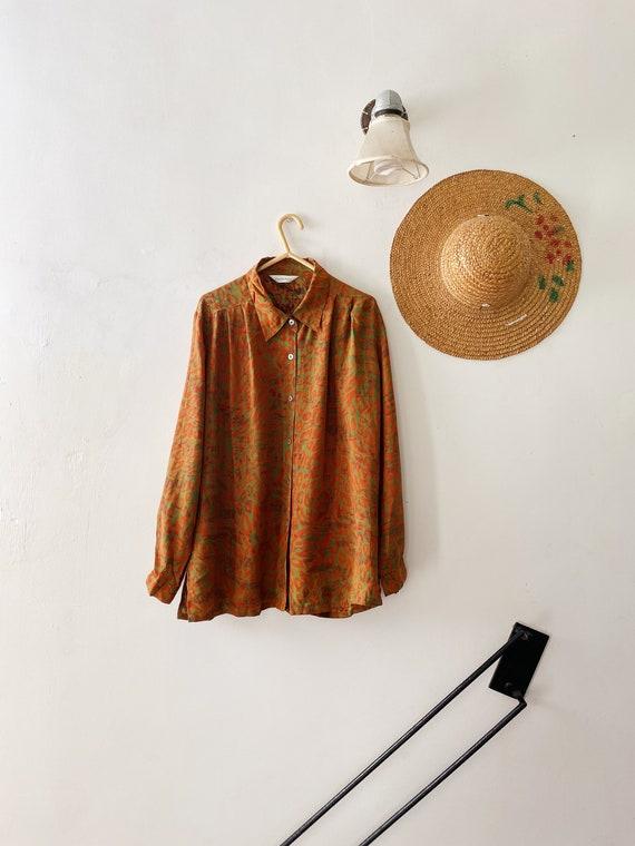 Vintage 80s Japan floral patterned shirt