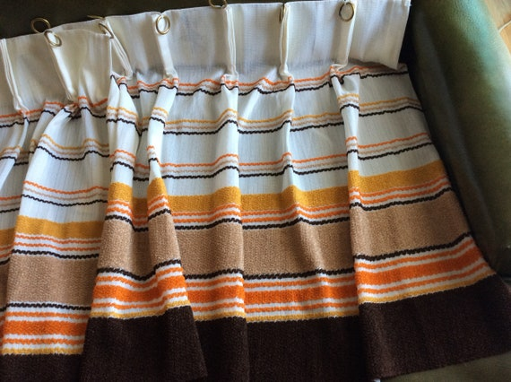 Kitchen Curtains New Old Stock 50s 60s Retro Funky Mod Terry Etsy