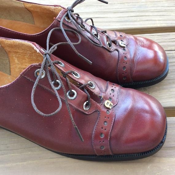 Vintage mod retro 60s 70s lace up shoes funky  Eti