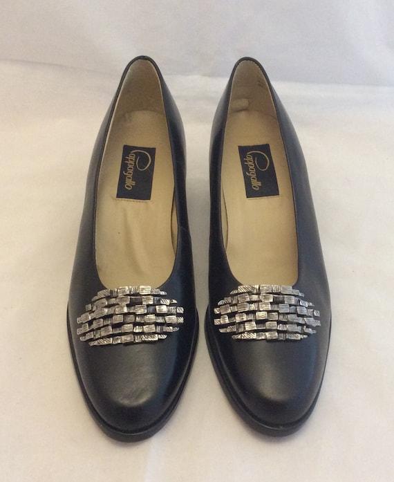 Pappagallo vintage mod chunky block heel shoes pum