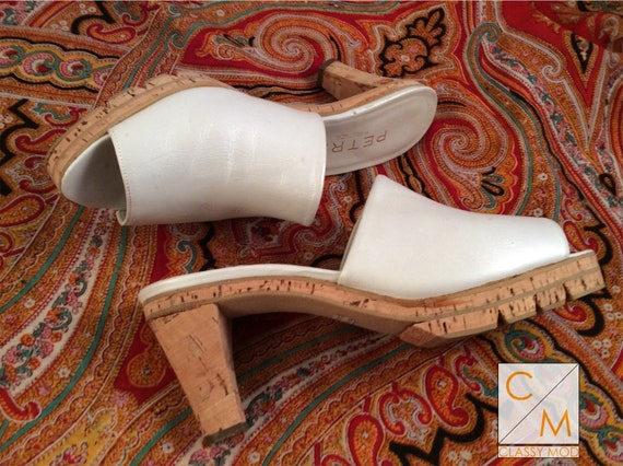 Mules Slides size 6.5 Firenze Italy Florence off w