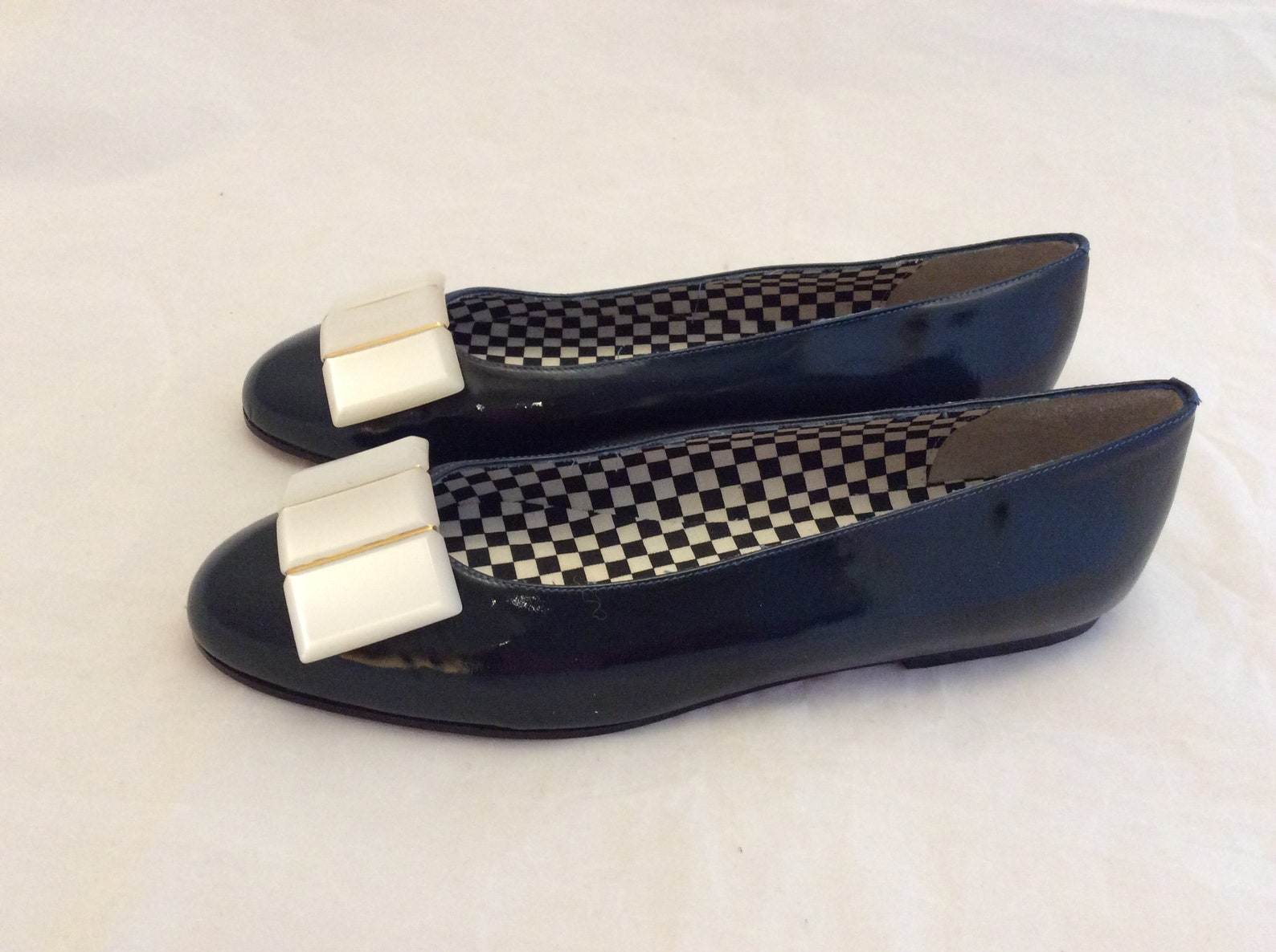 vintage saks fifth avenue flat shoes ballet flats new old stock size 7 mod retro